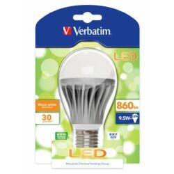 LED izzó, Classic A, E27-es foglalat, 860lm, 9,5W, 3000K, meleg fény, bliszterben, VERBATIM