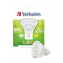 LED izzó, MR16, GU5.3-as foglalat, 350lm, 5,5W, 2700K, meleg fény, bliszterben, VERBATIM
