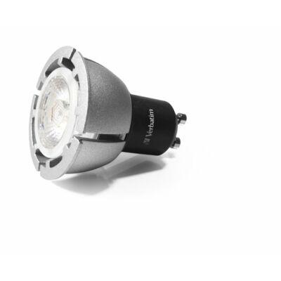 LED izzó, PAR16, GU10-es foglalat, 420lm, 7,3W, 3000K, meleg fény, szabályozható, VERBATIM
