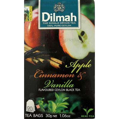 DILMAH TEA APPLE CINNAMON&VANILIA AROMÁS FEKETE 30G
