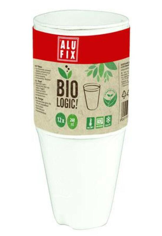 "Pohár, 260 ml, 12 db, ALUFIX, ""BioLogic"""