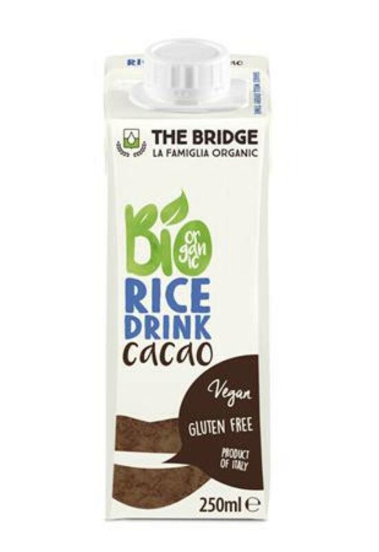 Növényi ital, bio, dobozos, 0,25 l, THE BRIDGE, rizs, kakaós