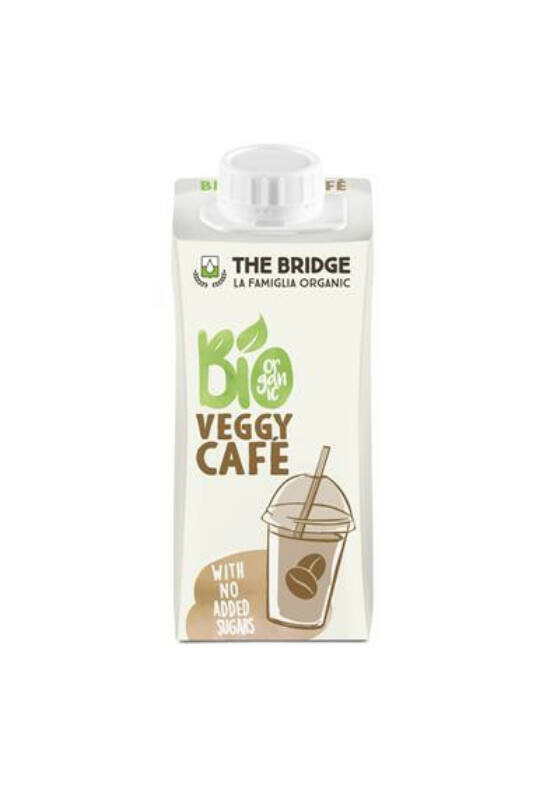 """Növényi ital, bio, dobozos, 0,2 l, THE BRIDGE """"Veggy Café"""", rizs, mandulás-kávés"""