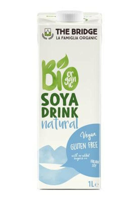 Növényi ital, bio, dobozos, 1 l, THE BRIDGE, szója