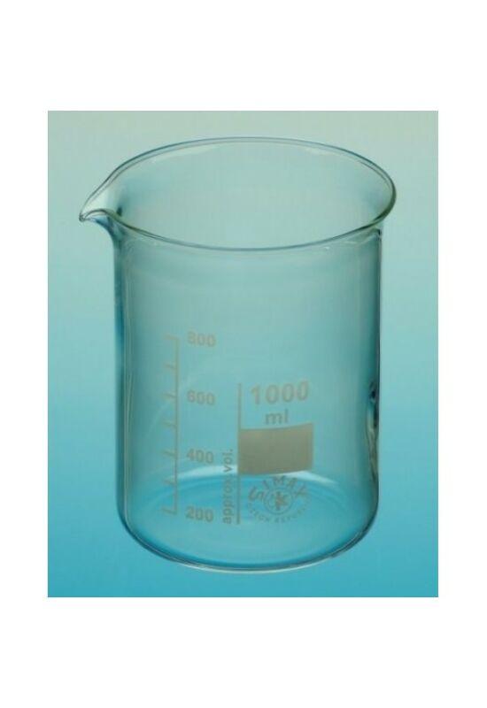 Üveg főzőpohár 1000 ml (alacsony)